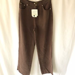 🥑NEW PULP 6 Tencel Lyocell Trouser Highrise Brown
